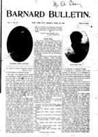 Barnard Bulletin, April 29, 1901