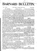 Barnard Bulletin, May 27, 1901