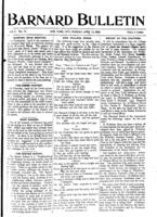 Barnard Bulletin, April 13, 1903