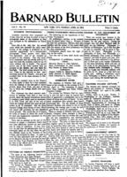 Barnard Bulletin, April 20, 1903