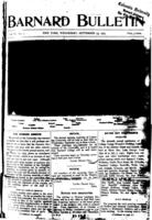 Barnard Bulletin, September 23, 1903