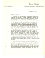 Letter from Martha Peterson to Catharine Stimpson, November 30, 1971, page 1