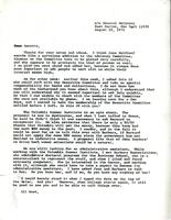 Letter from Catharine Stimpson to Annette Baxter, August 19, 1971
