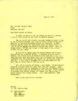 Letter from Elly Elliott to Hon. and Mrs. Ogden R. Reid, July 21, 1971, page 1