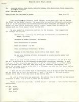 Memo from Barbara Hertz to Annette Baxter, Jane Gould, Patricia Graham, Iola Haverstick, Mirra Komarovsky, and Catharine Stimpson, regarding a flyer for the Women's Center, June 15, 1971