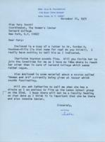 Letter from Iola Haverstick to Mary Scotti, November 11, 1971