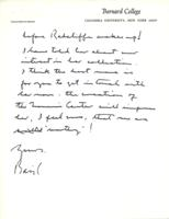 Letter from Basil Rauch to Catharine Stimpson, November 16, 1971, page 2