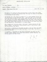 Memo from Robert Palmer to Martha Peterson, regarding the Helen Rogers Reid gift, September 22, 1971