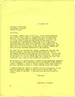 Letter from Catharine Stimpson to Barry Ulanof, December 3, 1971, page 1