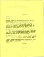 Letter from Catharine Stimpson to Loren Graham, December 3, 1971, page 1