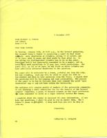 Letter from Catharine Stimpson to Michael Sovern, December 3, 1971, page 1