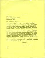 Letter from Catharine Stimpson to Bess Meyerson, December 9, 1971, page 1