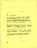 Letter from Catharine Stimpson to Eli Ginzberg, December 13, 1971, page 1