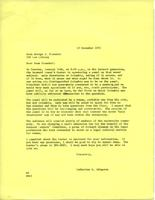 Letter from Catharine Stimpson to George Fraenkel, December 13, 1971, page 1
