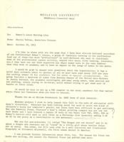 Letter from Sheila Tobias to the Women's Local Mailing List, October 20, 1971, page 1