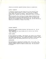 Reports for Executive Committee meeting, October 26, 1971