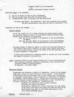 Working ideas and schedule, 1973, page 1