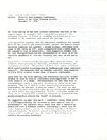 Report of the first planning session for The Scholar and the Feminist II, 1974, page 1