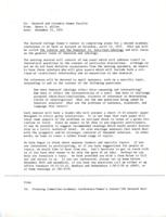 Letter from Nancy K. Miller to the Barnard and Columbia Women Faculty, page 1