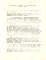 Conference report for The Scholar and The Feminist III, 1976, page 1