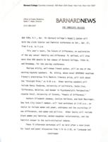 Press release for 1979 The Scholar and The Feminist conference, page 1
