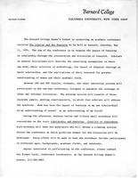 General information about scholar and feminist conference, 1974, page 1