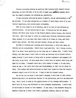 Women's Movement Reflection, 1974, page 1