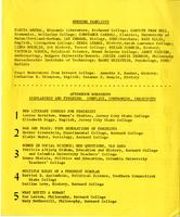 Scholar and Feminist Conference I program, 1974, page 3