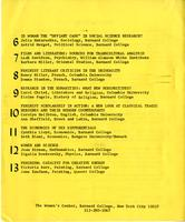 Scholar and Feminist Conference I program, 1974, page 4