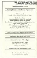 Scholar and Feminist Conference VIII program, 1981, page 2