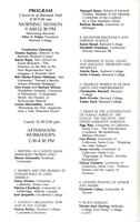 Scholar and Feminist Conference XIV program, 1987, page 2