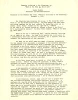 "Letter from Elaine Reuben to Catharine Stimpson, January 10, 1972; ""Feminist Criticism in the Classroom, or, 'What Do You Mean WE, White Man?'"" November 5, 1971, page 2"