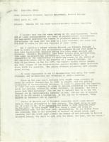 Memo from Catharine Stimpson to Alexander Stein, regarding remarks for the Joint Barnard-Columbia Trustee Committee, April 22, 1971
