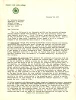 Letter from Dolores Barracano Schmidt to Catharine Stimpson, November 18, 1971, page 1