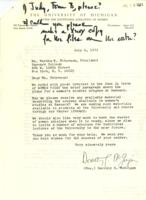Letter from Dorothy McGuigan to Martha Peterson, July 6, 1971