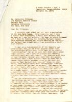 Letter from Alice Richmond to Catharine Stimpson, November 30, 1971