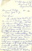 Letter from Virginia Kingsbury, August 20, 1971, page 1