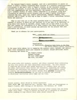 Women's Work and Women's Studies 1971 Questionnaire, Carol Ahlum, 1972, page 2