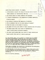 Women's Work and Women's Studies 1971 Questionnaire, Deirdre English and Barbara Ehrenreich, 1972, page 2