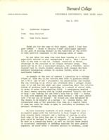 Memo from Nora Percival to Catharine Stimpson, regarding the task force report, May 6, 1971