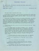 Memo from Catharine Stimpson to Baxter, Elliott, Gould, Graham, and Hertz regarding alumnae, July 23, 1971