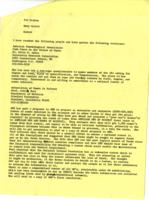 Memo from Mary Scotti to Patricia Graham, regarding the roster, October 11, 1971, page 2