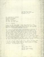 Letter from Marilyn Cohen Criezis to Catharine Stimpson, November 8, 1971