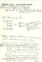 Notes from Mary Elizabeth Wexford, regarding Women's Studies conference, 1971, page 2