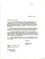 Letter from Martha Peterson to Hon. and Mrs. Ogden R. Reid, October 21, 1971, page 1