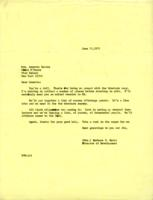 Letter from Barbara Hertz to Annette Baxter, June 30, 1971, page 1