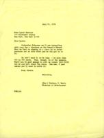 Letter from Barbara Hertz to Lynda Horhota, July 21, 1971