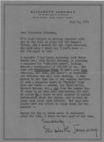 Letter from Elizabeth Janeway to Catharine Stimpson, July 24, 1971, page 1