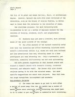 Draft, Report of the Task Force on Barnard and the Educated Woman, April 1971, page 3