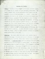 Proposal for Seminar, January 27, 1971